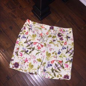 Lands' End plus size Mid Rise floral Shorts 16